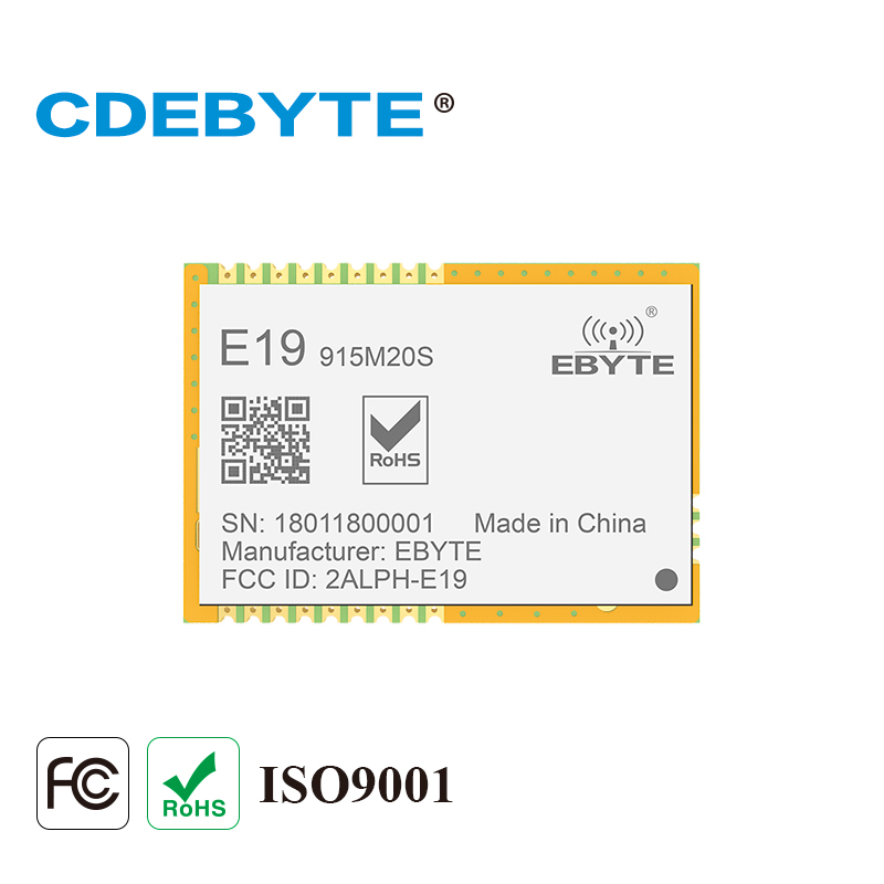 2PCS/Lot CDEBYTE E19-915MS100 SPI 20dBm SX1276 915MHz Wireless Spread Spectrum Transmission Module