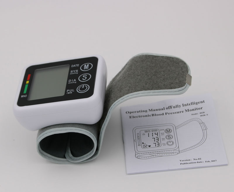 Household Health Care Germany Chip Automatic Wrist Digital Blood Pressure Monitor Tonometer Meter For Measuring And Pulse Rate 24