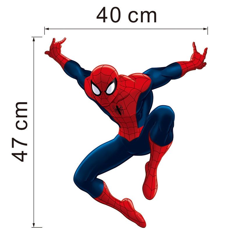 HTB12y7kLXXXXXX6aXXXq6xXFXXXy - Hero Spiderman wall stickers for kids rooms decals home decor Kids Nursery 3D Wall sticker decoration for Boy christmas gift
