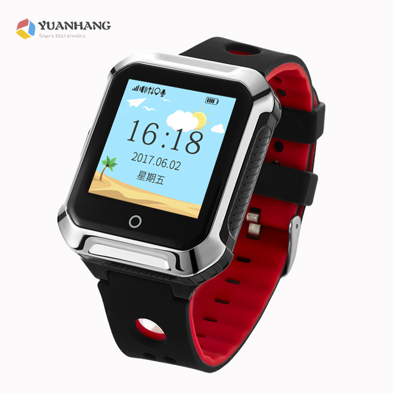 Smart GPS LBS Tracker Locator SOS Call Watch Heart Rate Monitor Blood Pressure Alarm Anti-Lost Wristwatch For Elder Parents