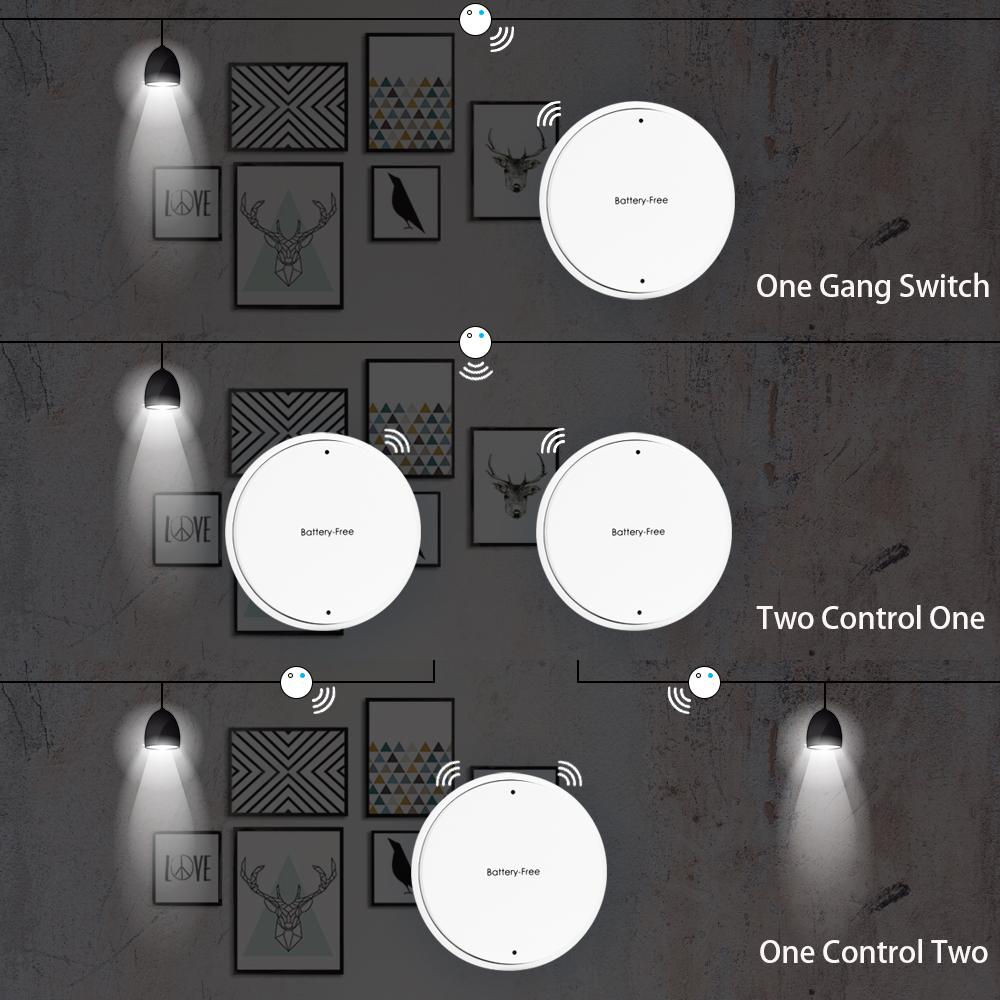 Battery free Wireless Light Switch RF Control Self powered Wall ...