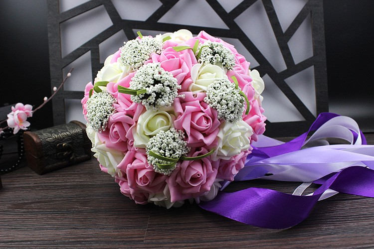 Wedding Bouquet de mariage Bridal Bouquet Wedding Bouquet Bridesmaid Artificial flower Boeket buques de noivas Bruidsboeket (9)