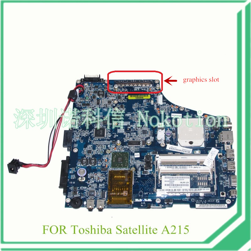 IALAA LA-3631P K000056840 For toshiba satellite A215 laptop motherboard with graphics slot DDR2 nokotion for toshiba satellite a100 a105 motherboard intel 945gm ddr2 without graphics slot sps v000068770 v000069110