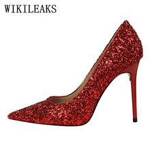 67186726 Alta calidad lentejuelas zapatos de tacones altos bling mujer italiano  euros zapatos de diseñador zapatos de lujo de las mujeres.
