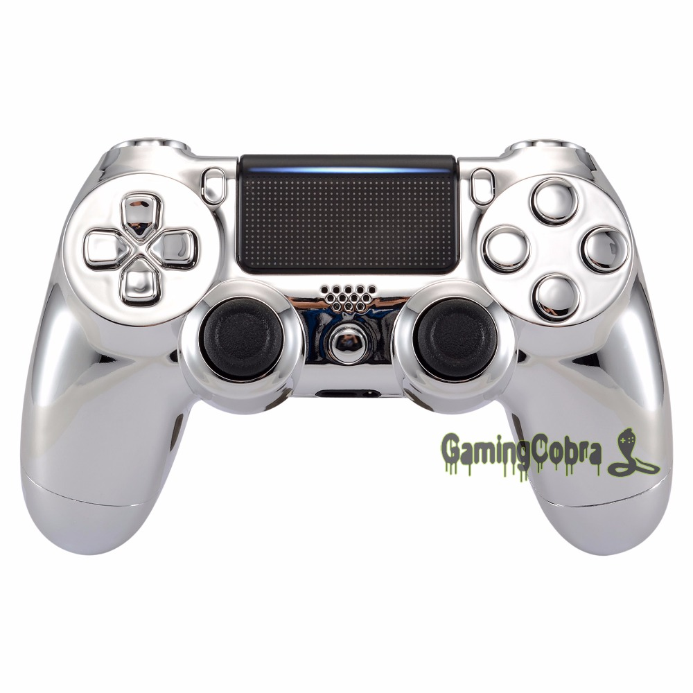Chrome Silver Replacement Full Set <font><b>Shell</b></font> Button for PS4 Pro Slim <font><b>JDM</b></font>-040 <font><b>JDM</b></font>-050 <font><b>JDM</b></font>-<font><b>055</b></font> Controller - SP4QD02 image