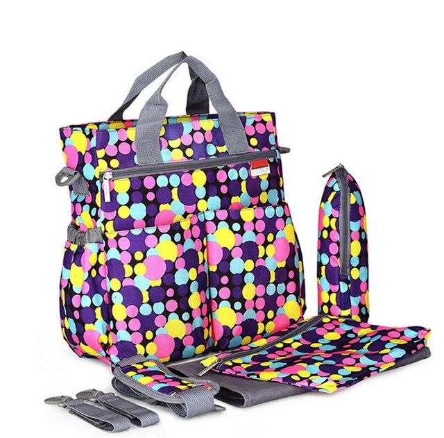 Mummy Baby Bag  baby diaper changing Shoulder Handbag Maternity Mother Stroller Bag Multifunctiona 5 piece set bag For Mom
