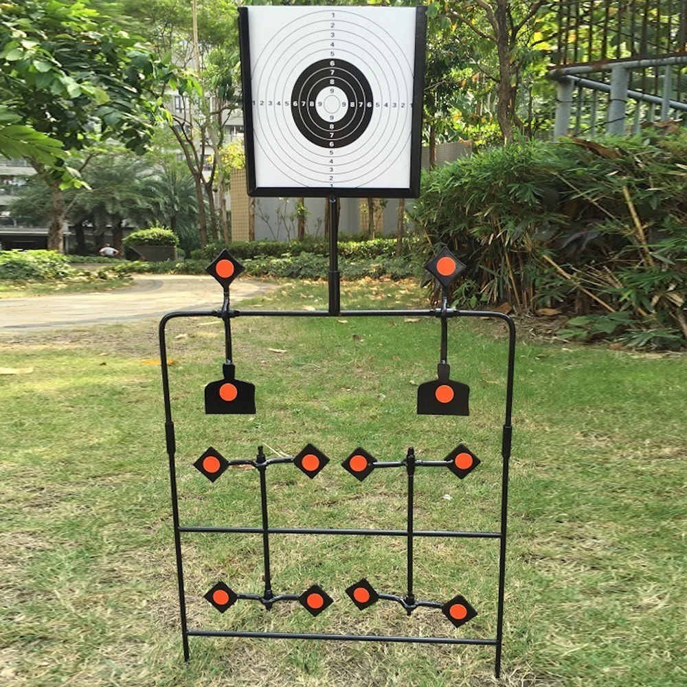 Suitable for paintball shooting 12 small targets will be fired vertically and horizontally, including 24 stickers