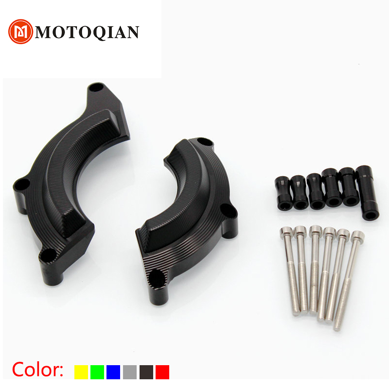 Motorcycle CNC Aluminum Case Guard Cover Engine Crash Frame Protector Slider Falling Pro ...