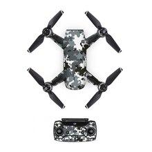 [DJS0012] серый камуфляж ПВХ наклейка на кожу наклейка для дрона DJJ Spark body+ пульты дистанционного управления+ 3 батареи Защитная крышка