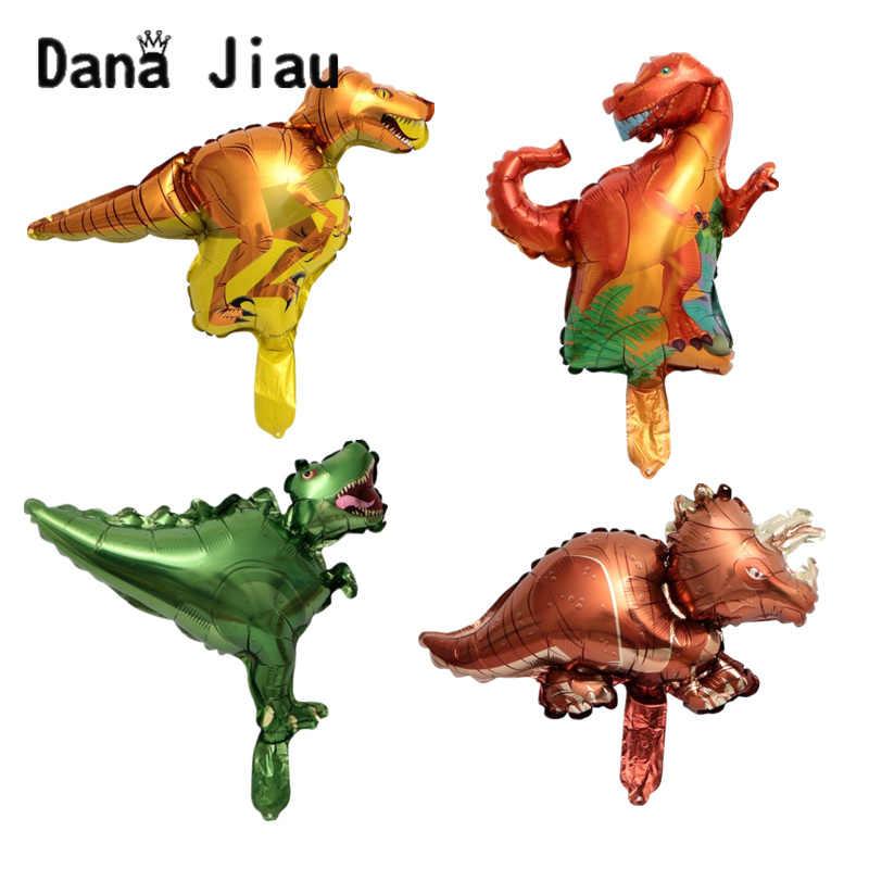 DanaJiau Мини мультфильм Динозавр фольгированные шары мальчик 6 лет День рождения украшения Детские игрушки животных тематический шар события ручной деко