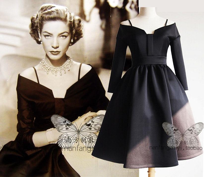Popular Retro Black Dress-Buy Cheap Retro Black Dress lots from ...