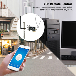 Image 4 - EWeLink Mini PCI e ordinateur de bureau télécommande commutateur carte WiFi sans fil commutateur intelligent Module de relais sans fil commutateur de redémarrage