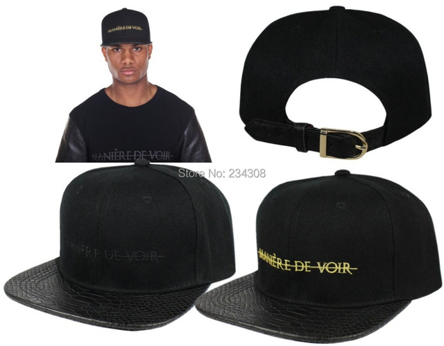 a4264706fa10a Fashion HIP HOP Hat Snake skin Leather for men and women Strapback Baseball  Cap New Style