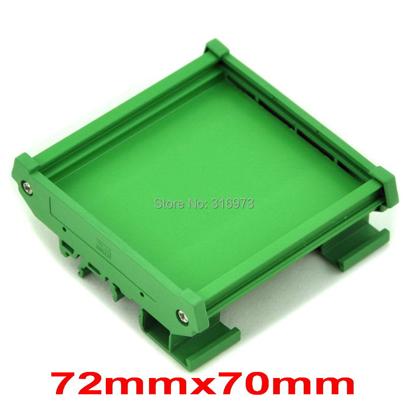 ( 50 Pcs/lot ) DIN Rail Mounting Carrier, For 72mm X 70mm PCB, Housing, Bracket.