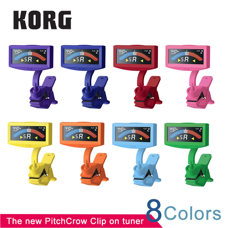 KORG Colorful PithCrow-G Clip On Guitar Tuner High Visibility Clip-On Bass Tuner With Color LCD air pneumatic brass 6 way adjustable oil distributor regulating manifold