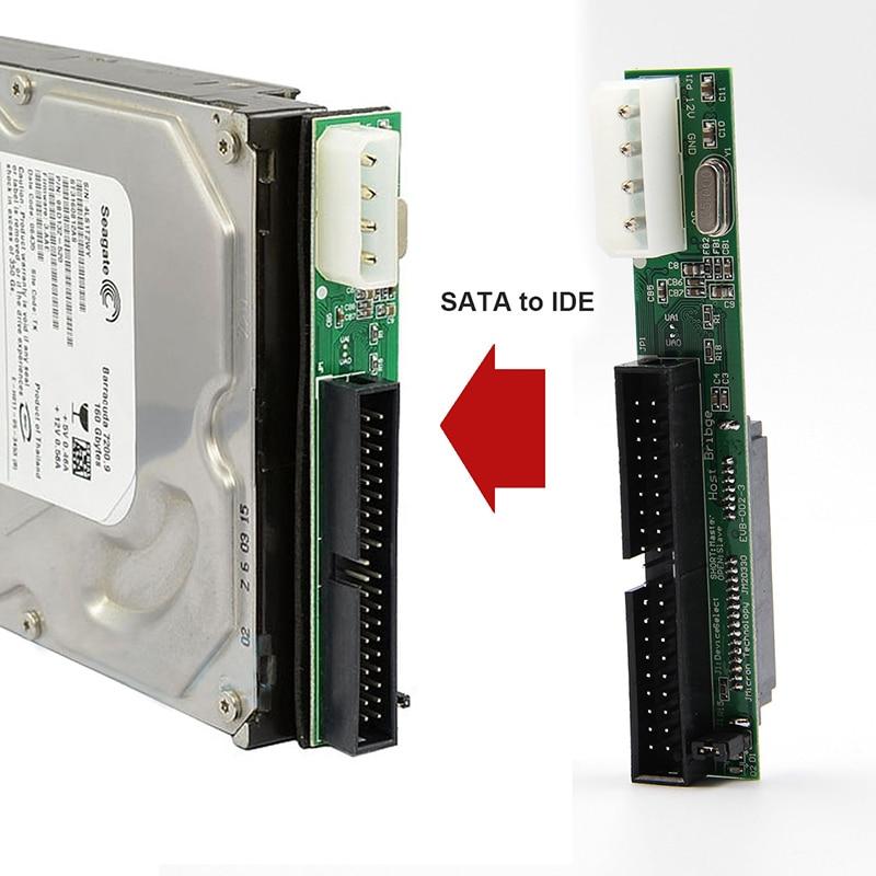 Адаптер переходник Sata-IDE 7 + 15Pin 2,5 Sata Female на 3,5 inch, 40-контактный переходник для ATA 133 100 HDD CD DVD, серийный Новый