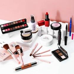 10pcs Makeup Set BB CC Cream Travel Make Up Set Makeup Kit Blushes Eyeshadow Pallete Matte Lipstick Mask Eyslash Growth Serum