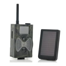 12MP 940NM Black IR night vision MMS GPRS trail game camera hunting camera with Solar Panel Battery