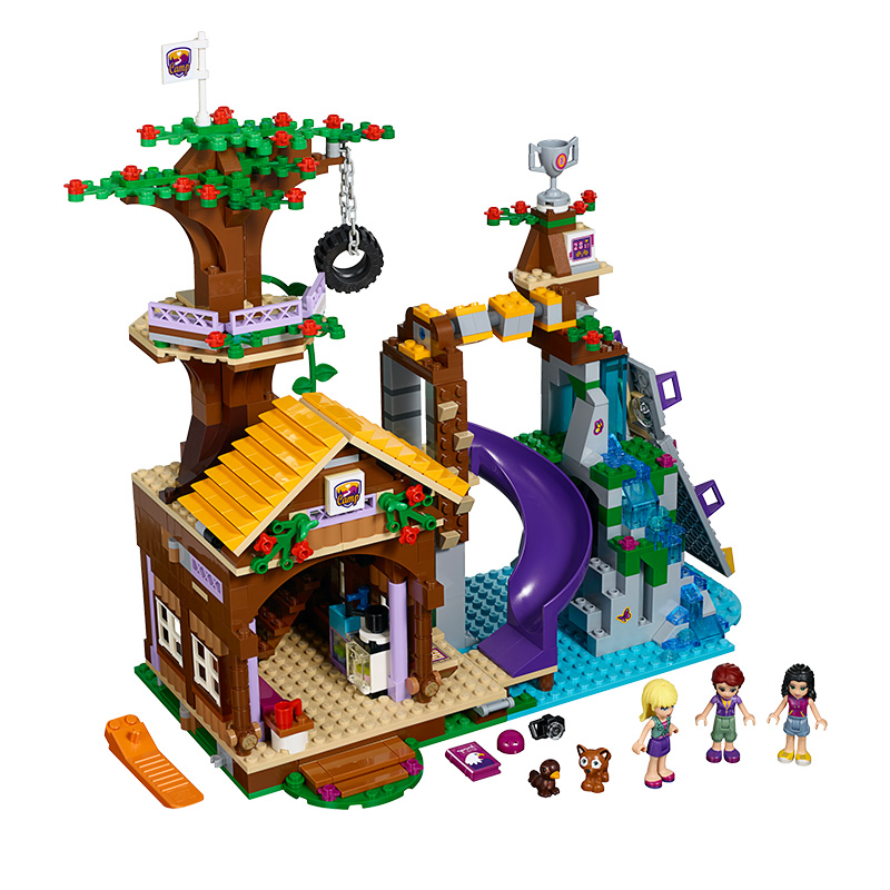 BELA 10497 Building Bricks Compatible Lepin Friends Blocks Adventure Camp Tree House 41122 Emma Mia Figure Toys For Children стоимость