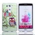 6 Teléfonos de estilo de la bolsa Para LG G3 Cartoon Búhos Animal Suave de TPU Gel Para LG mini G3 D722 D728 D725 D724 Caso protector de La Piel cubierta