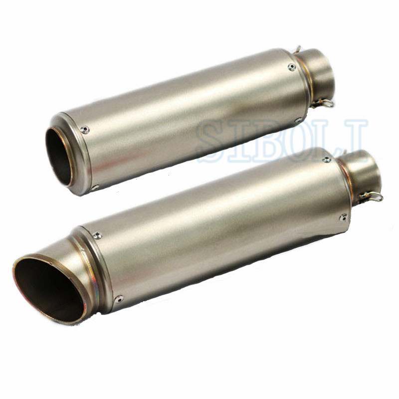 51mm 61mm Inlet Motorcycle Slip On Exhaust Escape Moto Stainless Steel Racing Bike 600cc Gy6: Slip On Dirt Bike Exhaust At Woreks.co