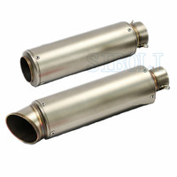 51mm 61mm Inlet Motorcycle Slip On Exhaust Escape Moto Stainless Steel Racing Bike Exhaust 600cc GY6 Scooter Dirt Pit Bike SC016