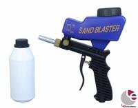 LEMATEC Sand Blasting Gun Sandblaster With 700g BROWN ALUMINIUM OXIDE Sand Abrasives Sandblasting Gun Portable Sandblaster