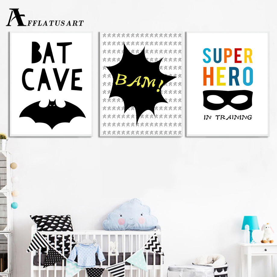 And, Superhero, Art, Kids, Posters, Batman