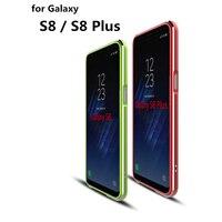 Luxe Deluxe Ultradunne Case Telefoon Cover aluminium Bumper Voor Samsung Galaxy S8 Plus & S8 2 Film (1 Front 1 Achter)