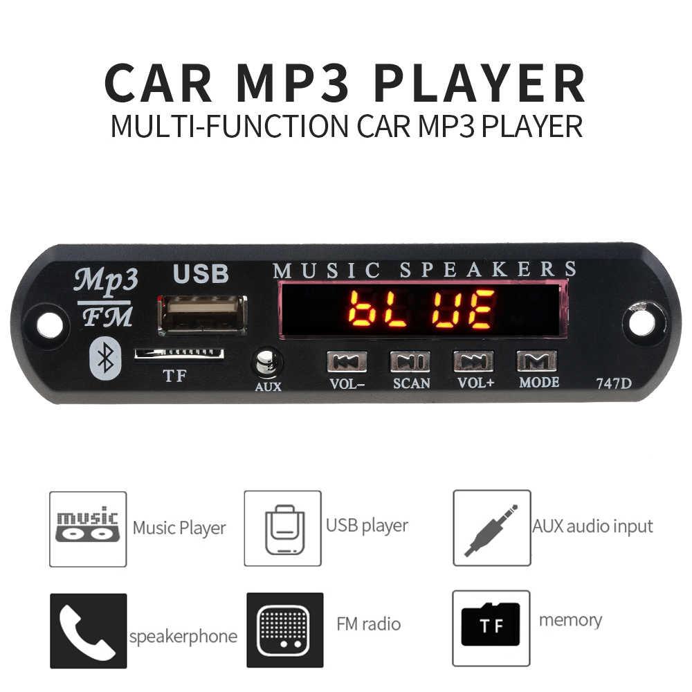 5 فولت 12 فولت بلوتوث يدوي مشغل Mp3 راديو FM استقبال الصوت اللاسلكي TF USB 3.5 مللي متر AUX سيارة الصوت تعديل عدة Speakers