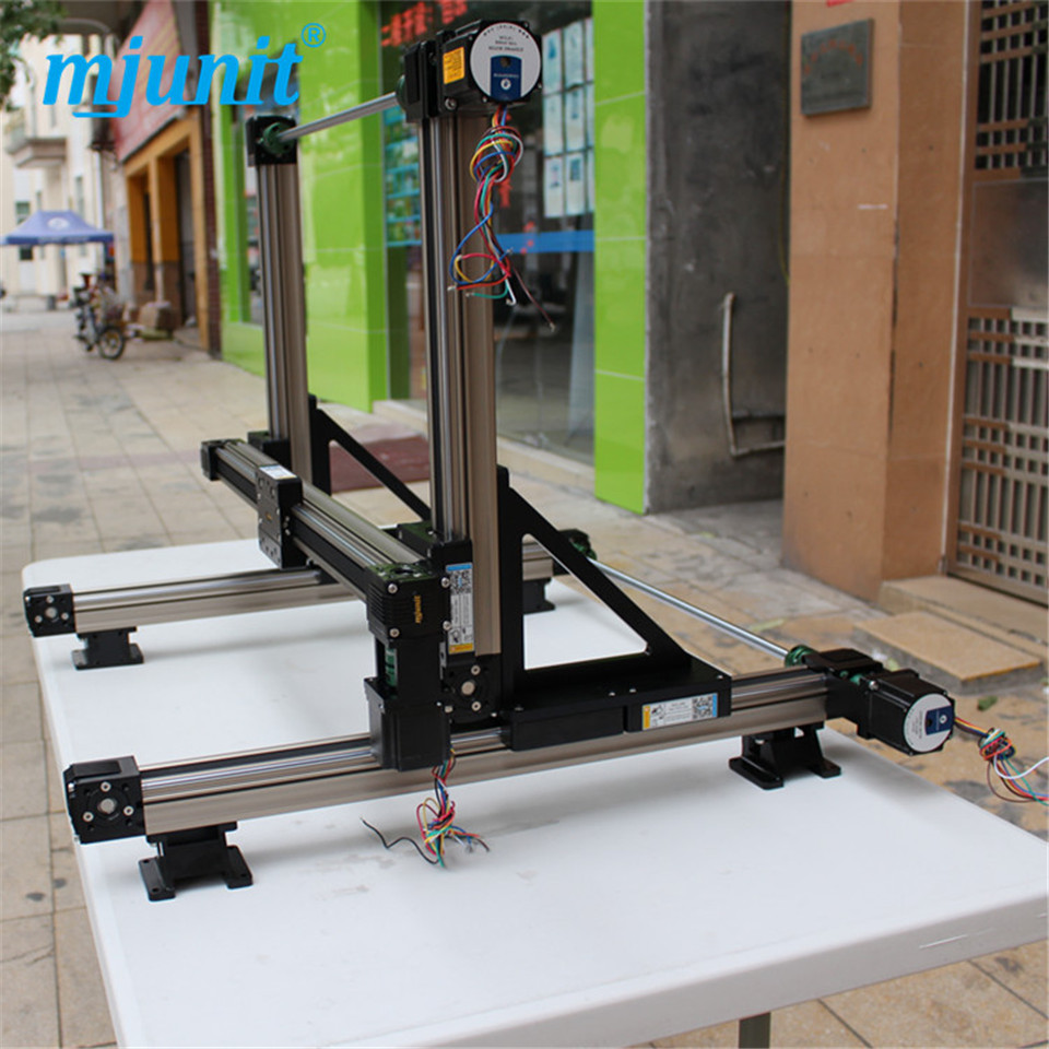 MJUNIT motorized Stepper Motor Positioning linear stage xyz position linear rail toothed belt drive rail guideway manufacturer motorized stepper motor positioning linear stage