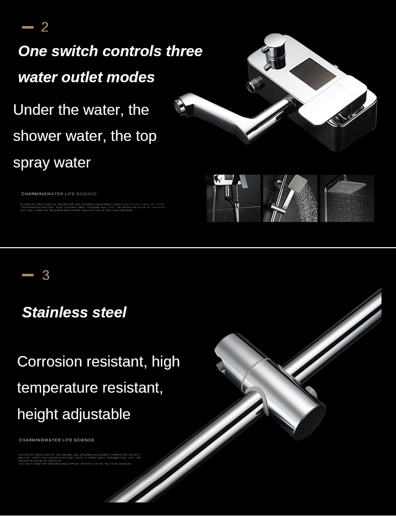 Chrome Digital Shower Faucets Favorite By Family Bathroom Shower Faucet High Quality Single Handle Shower Set