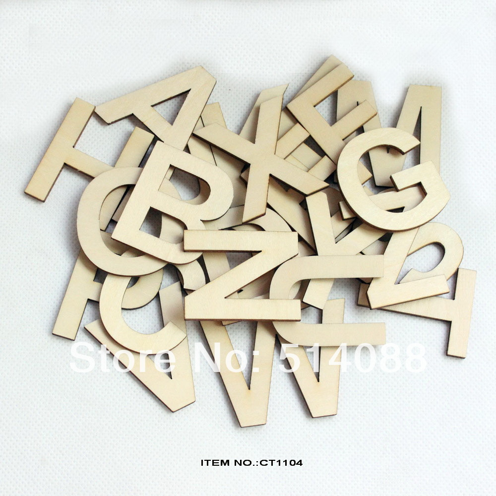 26letters78pcslot wooden alphabet letters set unfinished unpainted wood letter