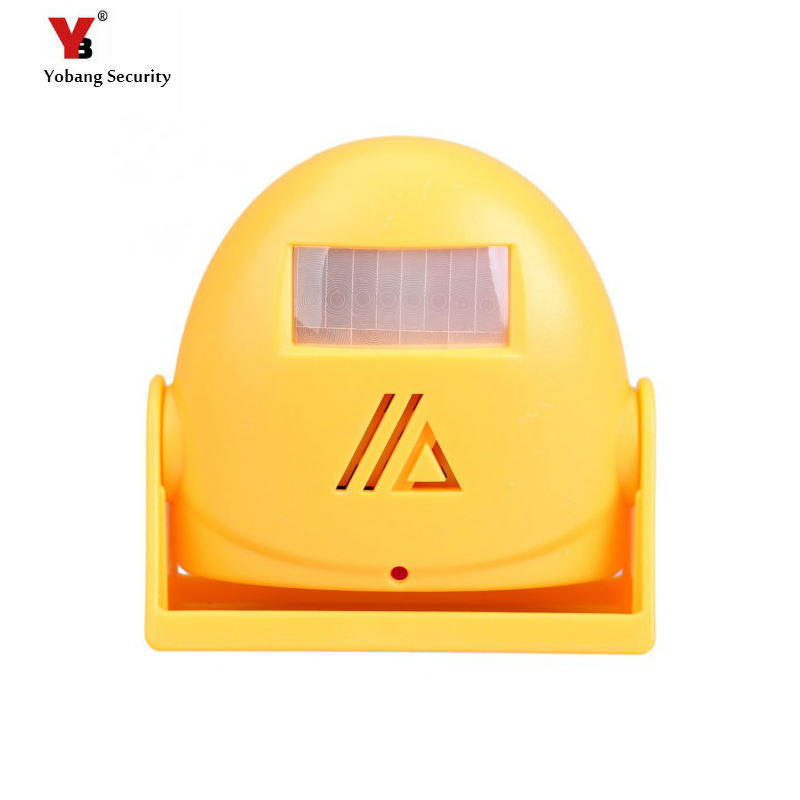 цены  Yobang Security Free shipping  Wireless doorbell Chime alarm Welcome Motion Sensor Wireless Infrared sensors Orange