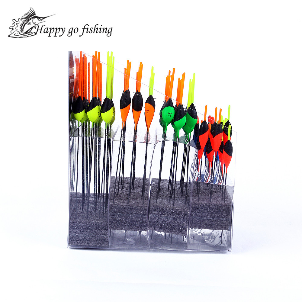 FISH KING Wood buoyage marine 2016 bobber fishing float 100pcs set different size and kinds of
