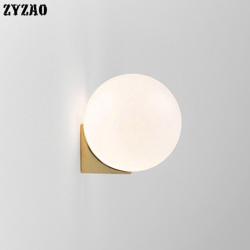 Nordic Postmodern Creative Glass Wall Lamp Hardware Living Room Art Wall Decor Vanity Light Bedside Bedroom Designer Wall Lights
