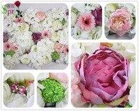 SPR Envío ems moda buenas ideas de la boda etapa telón de fondo de pared de la flor artificial de la boda centro de flores decoraciones celebración