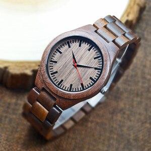 Image 3 - 2018 Mens Walnut Holz Uhren casual Quarz Armbanduhr Volle Natürliche Holz uhr Männlichen Uhren Mode Männer Armreif Armbanduhr