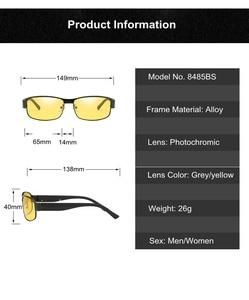 Image 4 - Lunettes de soleil 2019 polarisées, photochromiques, Rectangle, Vision nocturne, pour conduite, verres photochromiques, gris jaune