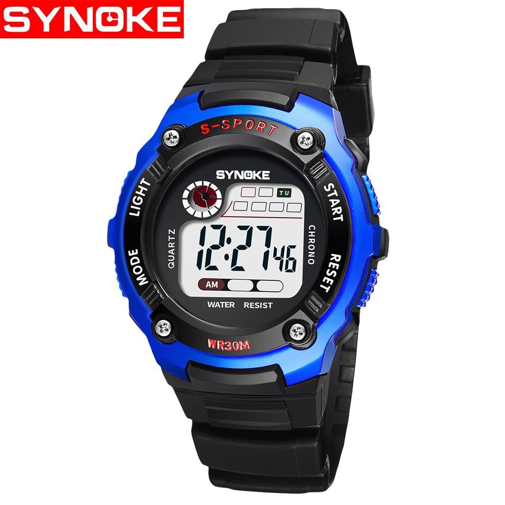 2018 Fashion Waterproof Children Kids Boy Watches Digital LED Quartz Alarm Date Sports Electronic Quartz Wrist Watch Child