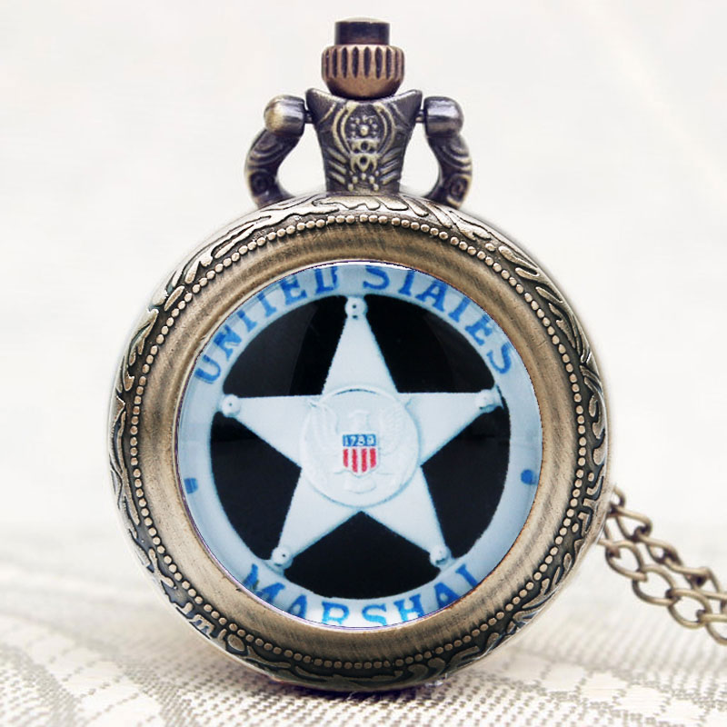 Army Special Force/Delta Force/Cobra/Marshal Women Pocket Watch Necklace Gift Cool United States Trendy