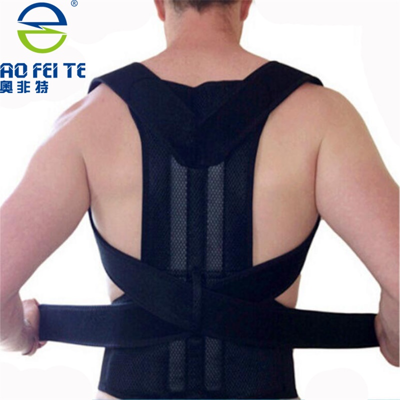 HEALTH CARE AFT-B003 Lumbar Support Belt Strap Posture Corset for Men Men's Back Posture Corrector Back Braces Belts men women adjustable posture corrector belt braces support body back corrector shoulder health care 611