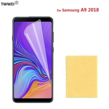 Glossy Clear LCD Screen Protector for Samsung Galaxy A9 2018 Protective Film on for Samsung A9 2018 Screen Protector Film Foil protective glossy screen guards for samsung galaxy note 2 n7100 10 pcs