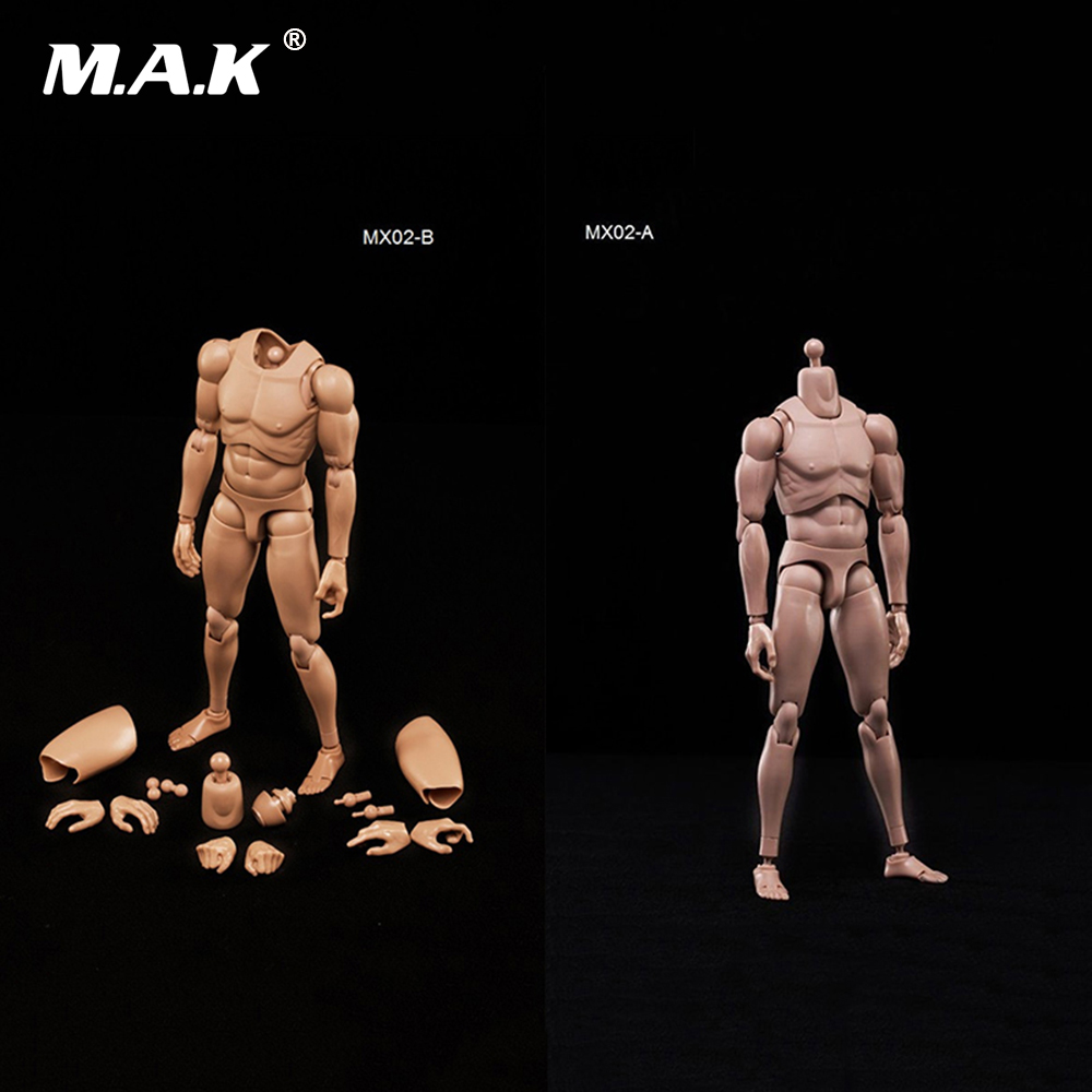 1/6 Scale Male Nude Muscle Body Figure Asian Skin Color Model Toys Highly Cost-effective Bodies for 12'' Action Figure 1 6 scale nude male body figure muscle man soldier model toys for 12 action figure doll accessories