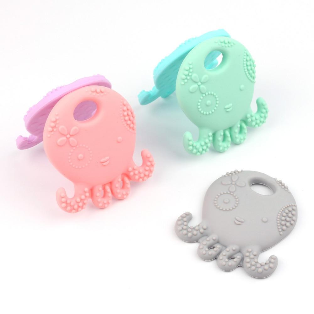 TYRY.HU Octopus Silikonowe Gryzak BPA Darmowe Silikonowe Wisiorek Dla - Opieka nad dzieckiem - Zdjęcie 2