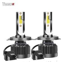 TXVSO8 2PCS Car H7 LED headlight 6000K COB Chips 80W Mini Fog lights Bulbs 12V No error Auto bombillas H11 9005 H4 Hi-Lo beam