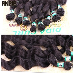 """Image 5 - 14"""" 16"""" 18"""" 20"""" Synthetic  Wavy curly Hair Weave Bundles  8pcs/Lot Synthetic Hair Extensions for women"""