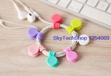 2016 The new hot magnet earbud headset phone Winder Cable Winder