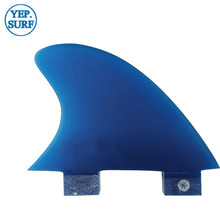 FCS VS Knubster Center Keel Set Fin X Small Blue color SUP Surf Paddling Center  Kneel Fin Fibreglass sup surf paddling blue center kneel fin fibreglass fins quilhas fcs vs knubster center keel set fin x small