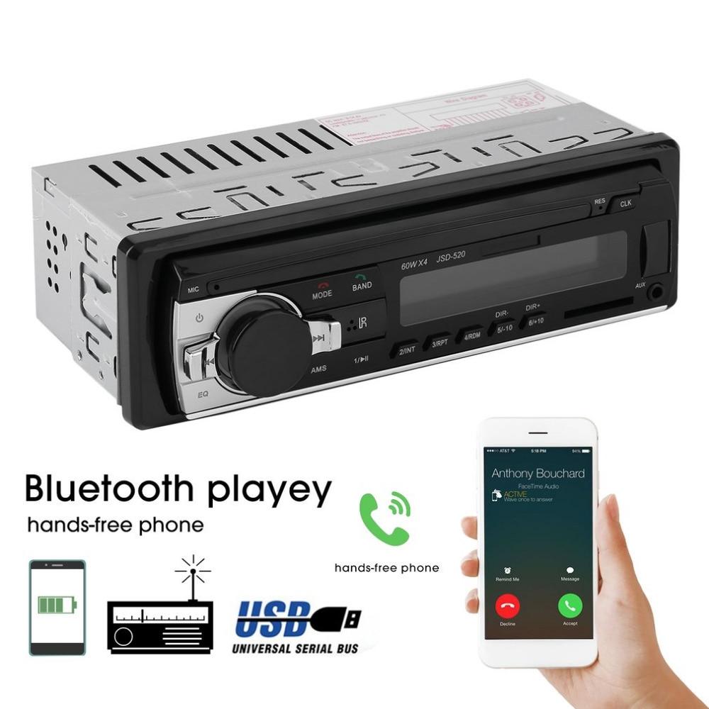 Universal Car Radio Stereo Music Player Bluetooth Phone MP3 Remote Control 12V Car Audio Vehicle Music Device
